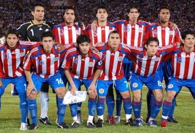 サッカーパラグアイ代表のユニフ...